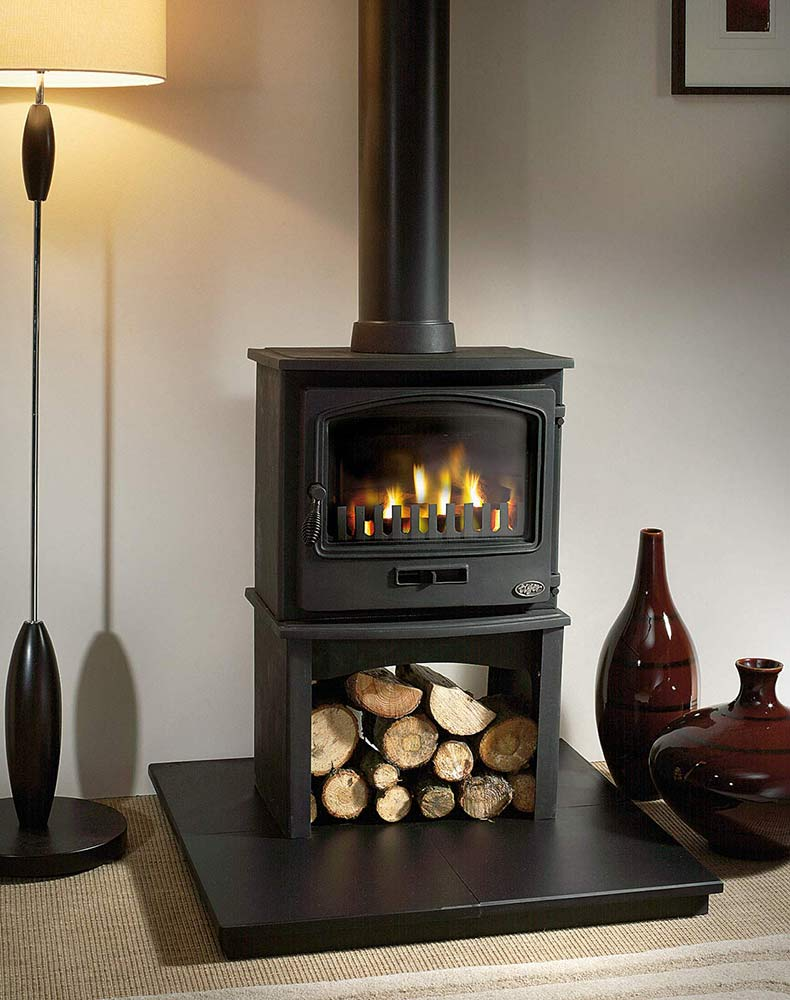 Tiger Multi-Fuel Stove With Europa Log Store