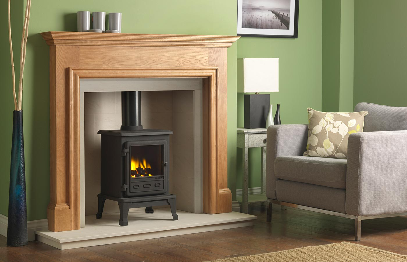 Forano Mantel in Chatsworth Grey Finish