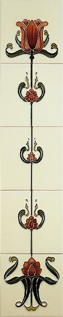 Tulip Burgundy/Ivory Tiles