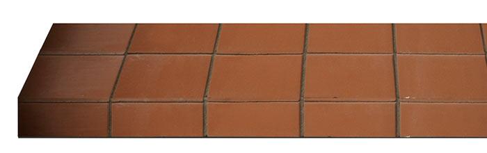 Autumn Quarry Tile Hearth