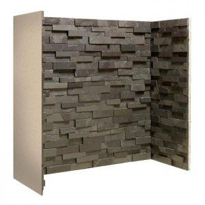 Staggered Black Slate Block Chamber