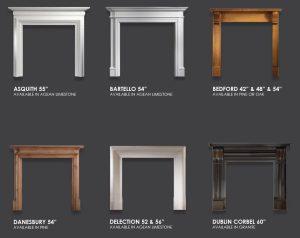 Gallery Mantels - Asquith, Bartello, Bedford, Danesbury, Delection, Dublin Corbel