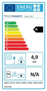 Classic 5 Clean Burn Stove Energy Label