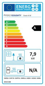 Classic 8 Clean Burn Stove Energy Label
