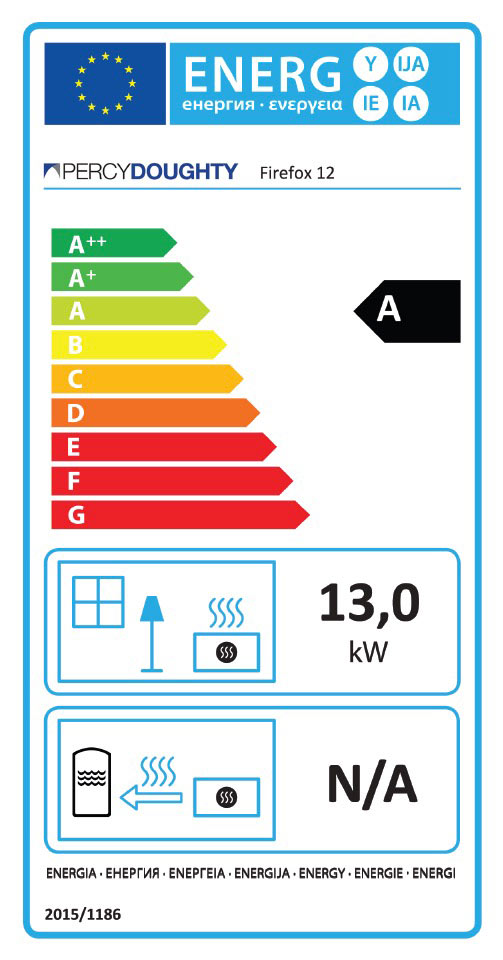 Firefix 12 Multi Fuel Stove Energy Label