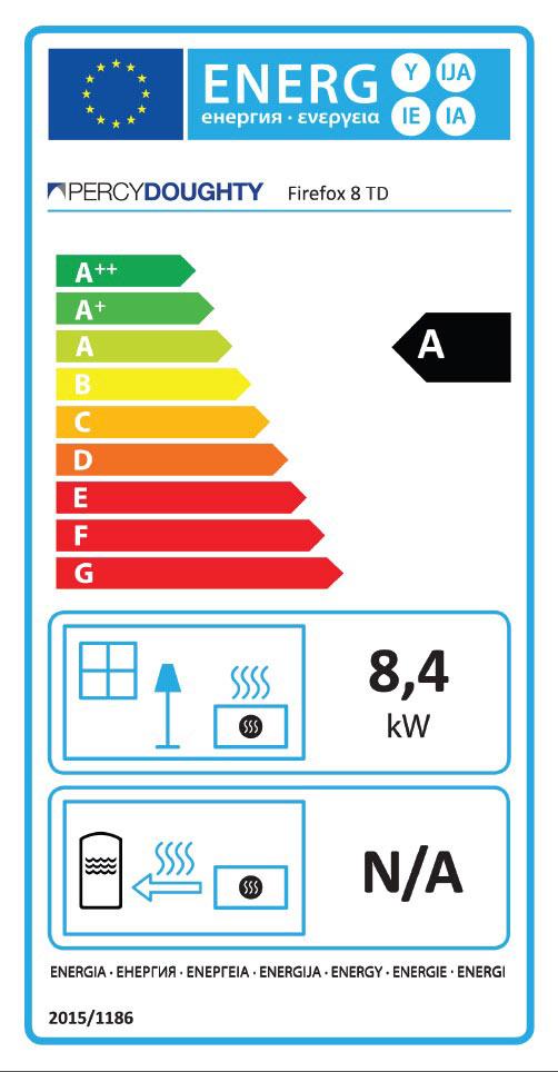Firefox 8TD Stove Energy Label