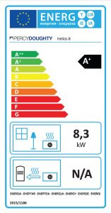 Helios 8 Clean Burn Stove Energy Label