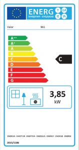 Solaris Class 1 Glass Fronted Gas Fire Energy Label