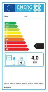 Solaris Class 1 Open Fronted Gas Fire Energy Label