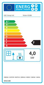 Vision Providence Open Fronted Gas Convector Fire Energy Label