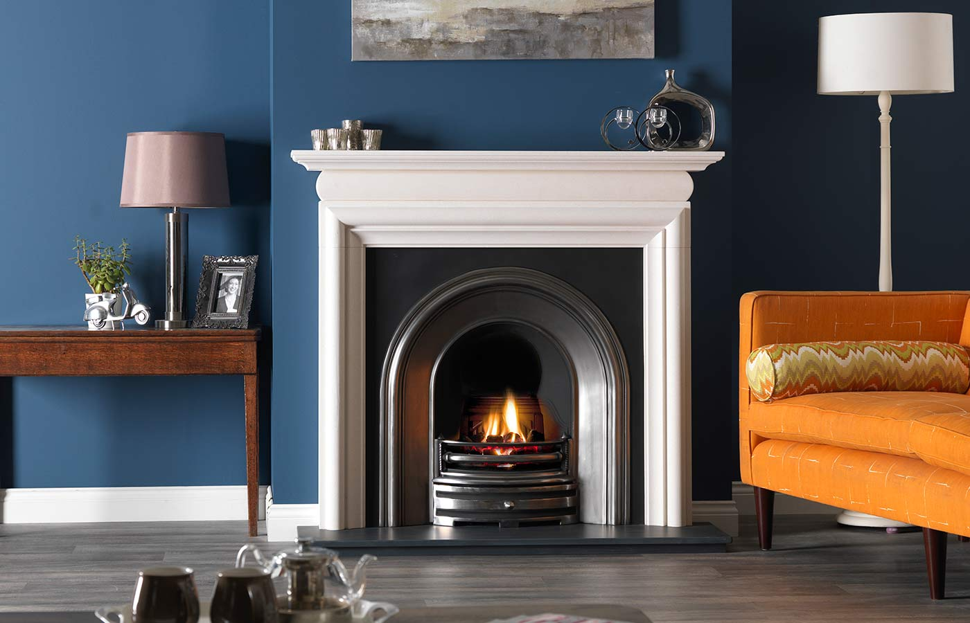 Asquith Mantel in Agean Limestone
