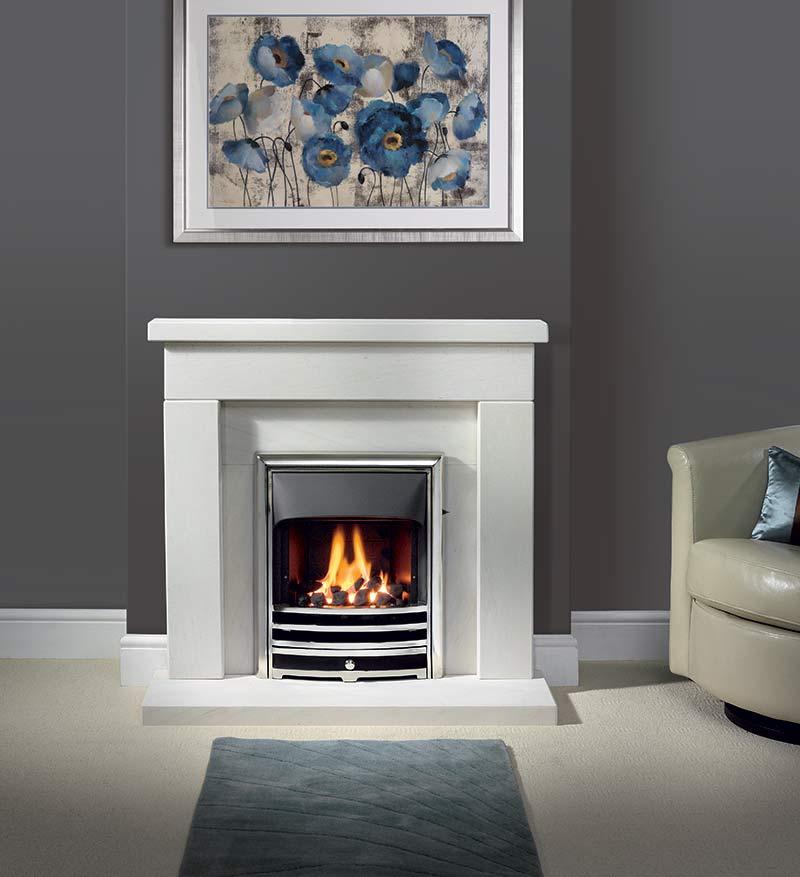 "Durrington 42"" Fireplace Suite in Portuguese Limestone"