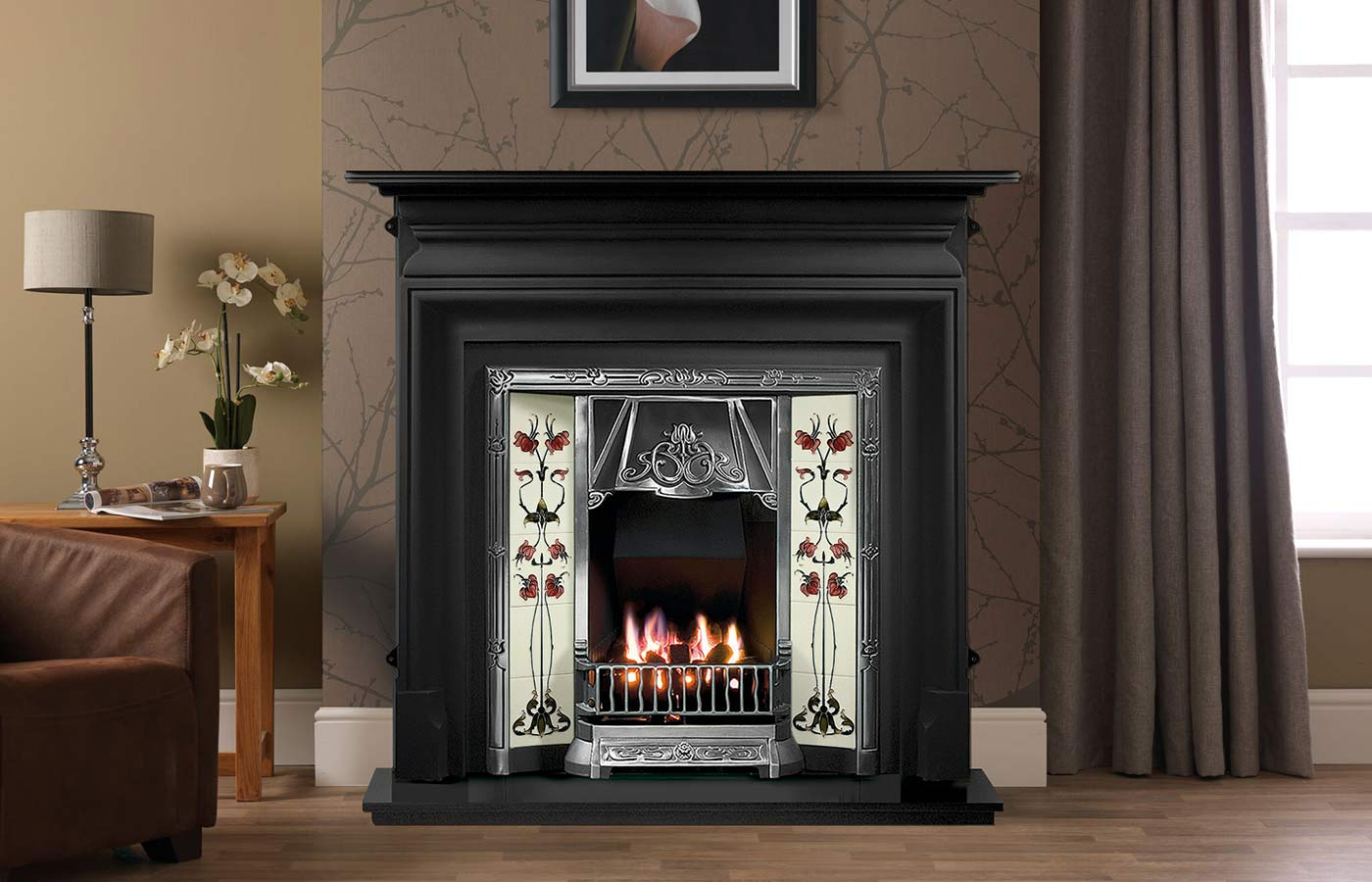 Palmerston Mantel in Black Cast Iron