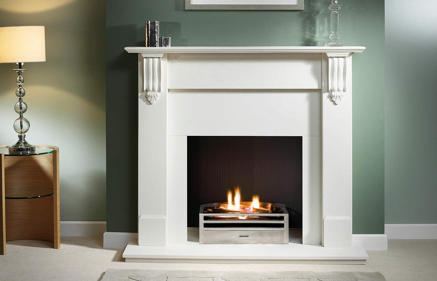 Richmond Mantel in Agean Limestone