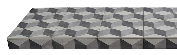 Cube Ceramic Tiled Hearth