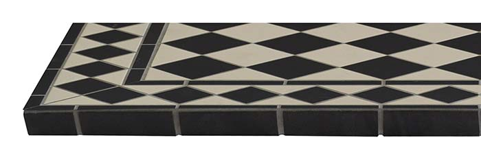 Harlequin Ceramic Tiled Hearth