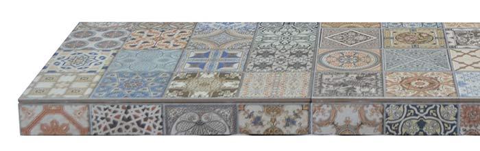 Tapestry Ceramic Tiled Hearth