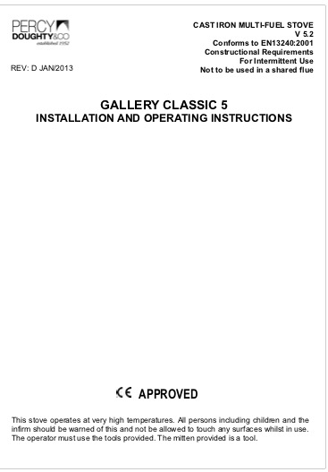 Classic 5 Installation And Operating Instructions
