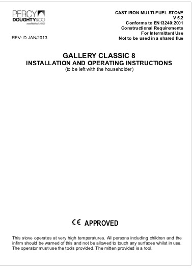 Classic 8 Installation And Operating Instructions