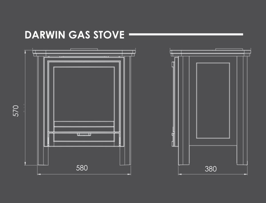 Darwin Gas Stove Dimensions