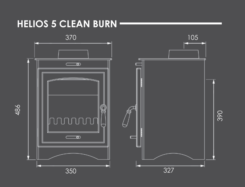 Helios 5 Clean Burn Dimensions