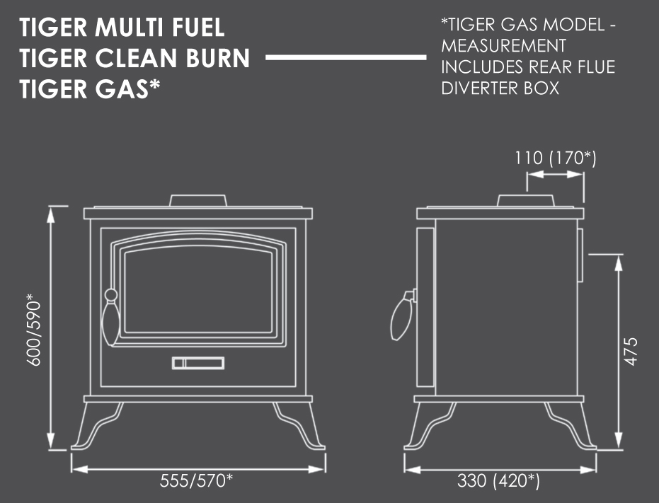Tiger Stove Dimensions