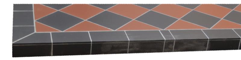 Cube Ceramic Tiled Hearth